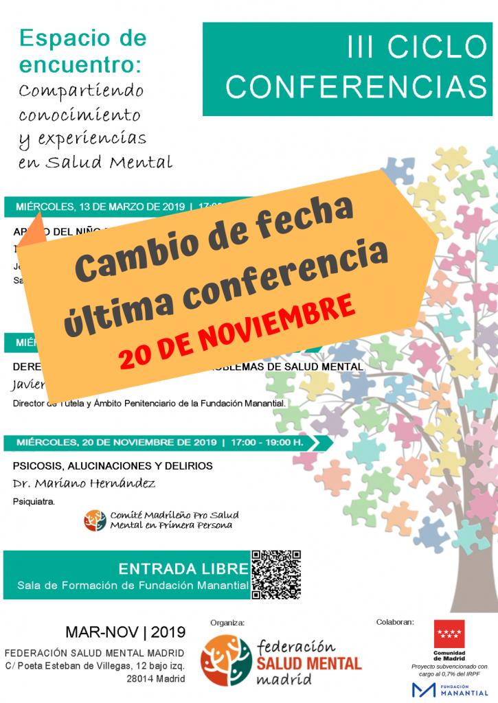 Cartel A3_III Ciclo Conferencias _anuncio cambio fecha
