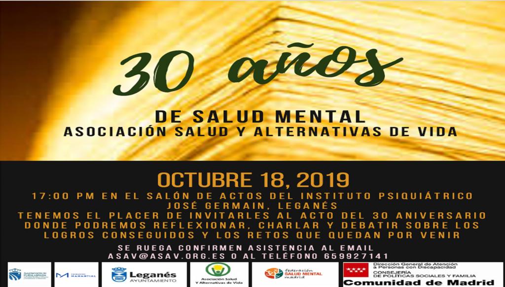 Invitación 30 Aniversario ASAV